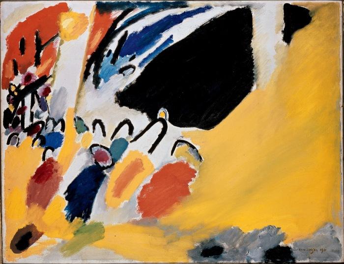 Wassily KANDINSKY Impression III Concert (1911) Huile sur toile, 100 x 77.5 cm Städtische Galerie im Lenbachhaus, Munich, German