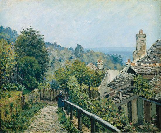 Alfred SISLEY Louveciennes_sentier_de_la_Mi-Côte 1873