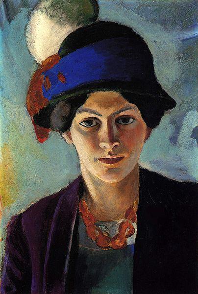 August MACKE Femme au Chapeau (1909)