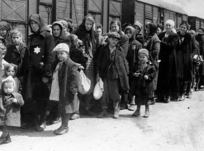 Déportation Arrivée de familles juives à Auschwitz  USHMM