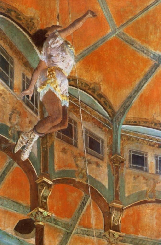 Edgar DEGAS miss lala au cirque fernando (1879)