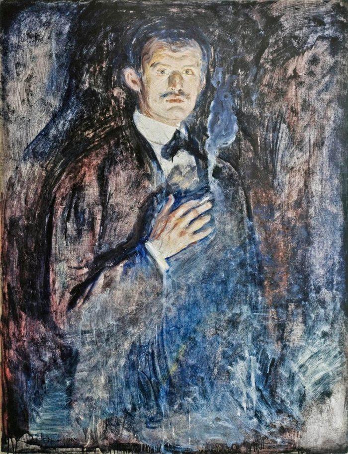Edvard-Munch-Autoportrait-a-la-cigarette