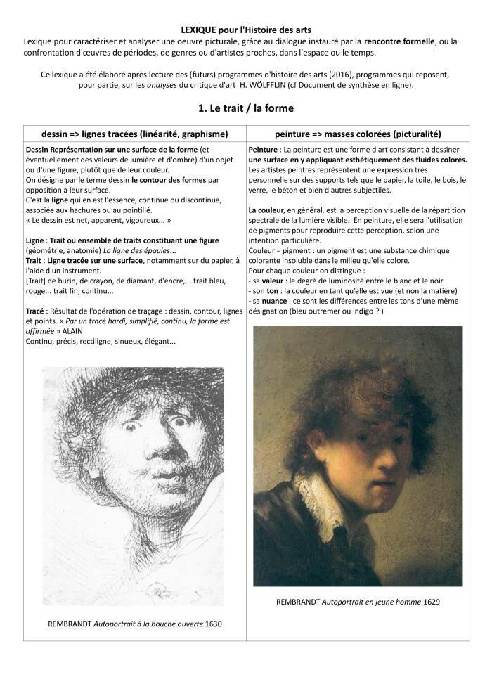LEXIQUE Histoire des arts 2015 3e version 26 p.-page-001