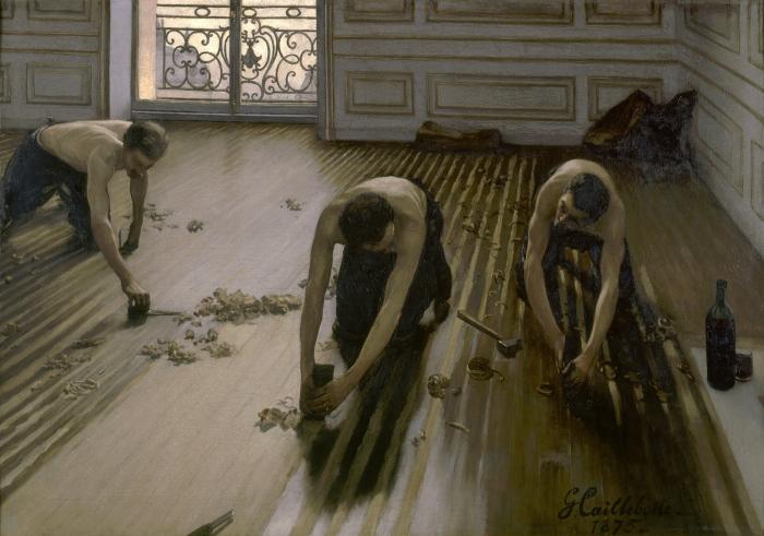 Suite Réalisme CAILLEBOTTE 1875 Les Raboteurs de parquet