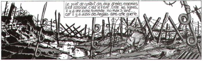 3- PS Argumentation 1914 DTB TARDI Les Tranchées Planche 9 détail no man's land