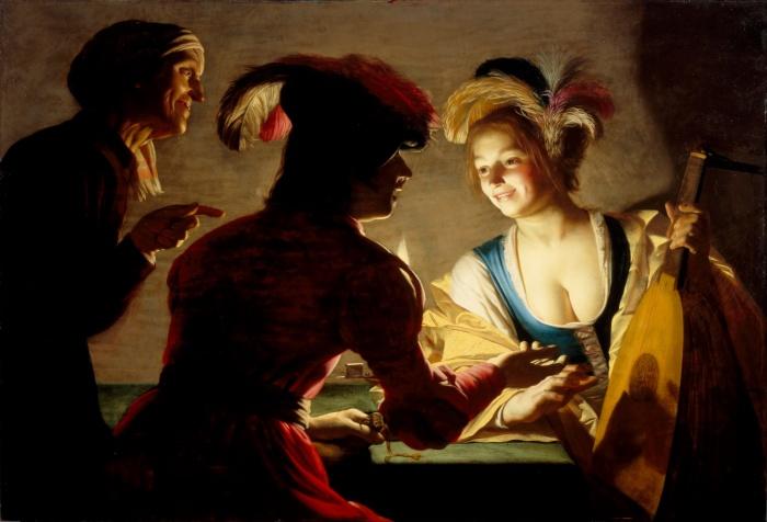 Gerard Van Honthorst L'Entremetteuse, 1625 71x104