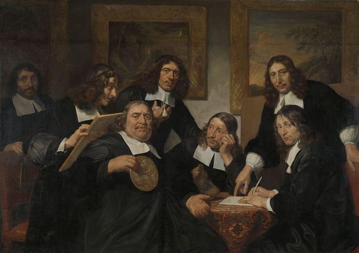 Jan de BRAY Les dirigeants de la Guilde de Saint-Luc en 1675. Rijksmuseum, Amsterdam
