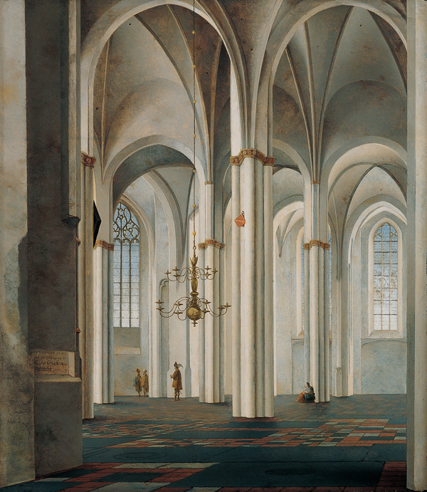 Pieter SAENREDAM Huile sur bois, 58,1 × 50,8 cm. Kimbell Art Museum, Fort Worth, Texas.