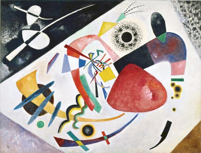 "Wassily KANDINSKY Red spot II (1921) Huile sur toile 51.6 × 71.3"" (131.0 × 181.0 cm) Munich, Germany. Lenbachhaus Gallery"