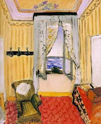 Henri MATISSE Chambre avec vue sur la mer (1917-1918) huile sur toile 73 x 61 cm
