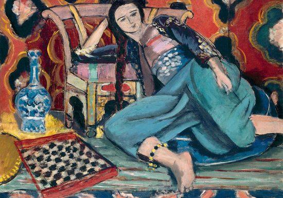 Henri Matisse Odalisque sur une chaise turque 60 x 73 cm Huile sur toile 1927-1928