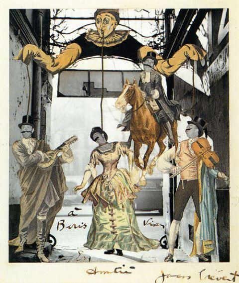 Jacques PREVERT Collage Cité Véron dédicacé à Boris Vian