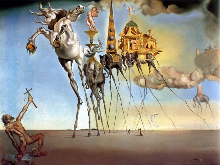 Salvador DALI La Tentation de Saint Antoine (1946) huile sur toile de 90 × 119,5 cm