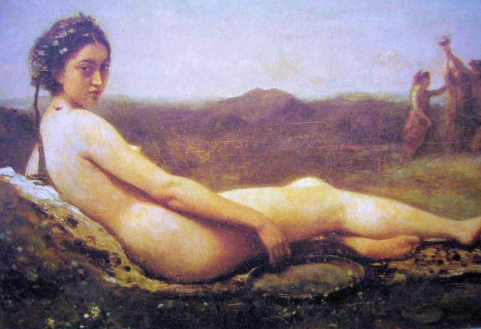 Jean Baptiste Camille Corot La Bacchante au tambourin 1860 retouché en 1865-1870