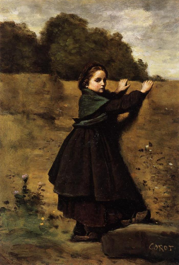 Jean Baptiste Camille Corot La petite fille curieuse 1860