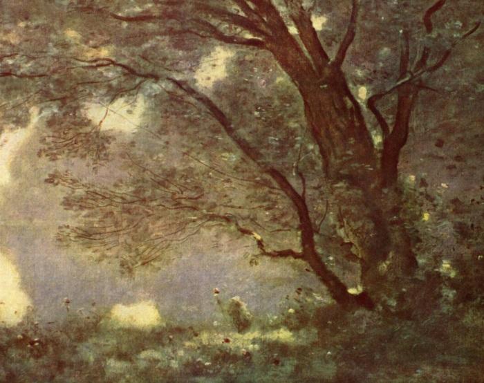 Jean-Baptiste-Camille_Corot Souvenir de Mortefontaine (1864) 65.5 cm × 89 cm détail