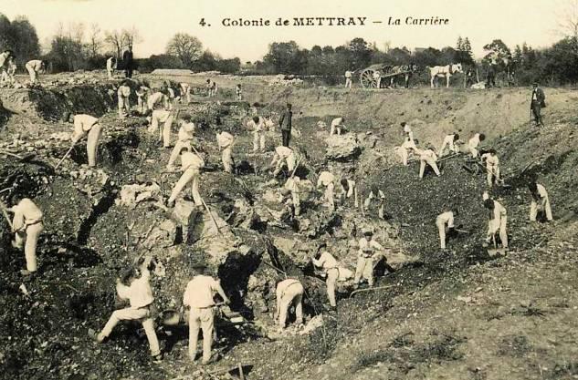 Colonie de METTRAY Travail des colons dans la carrière