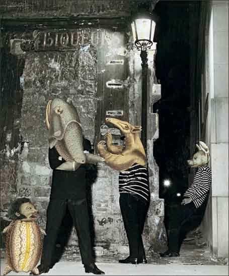 """Jacques PREVERT Collage """"Les Garçons de rue"""""""
