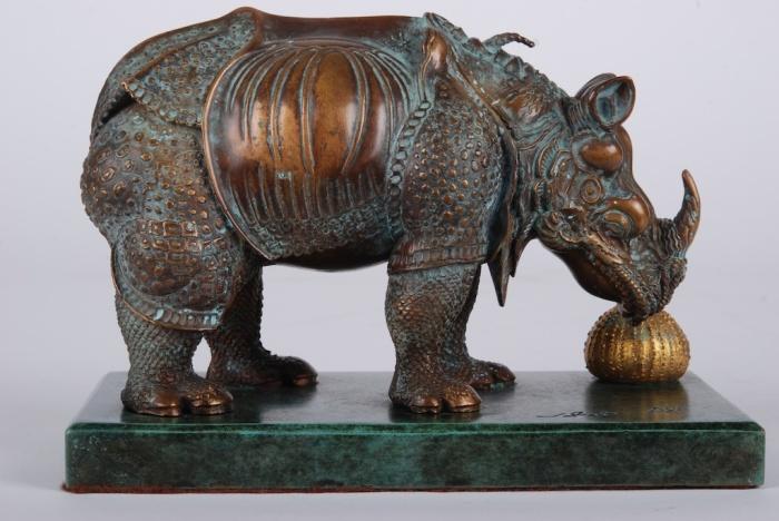 Salvador DALI Rhinocéros, Bronze
