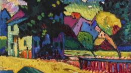 V. KANDINSKY Paysage avec maison verte 1909