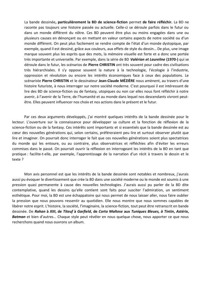 3- Se Raconter EXPRESSION ECRITE 2 Corrigé DEGUFFROY Sujet de réflexion du brevet BD-page-002