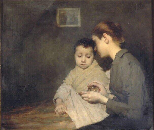 Henri Jules Jean Geoffroy (1853-1924) : enfant malade et sa mère